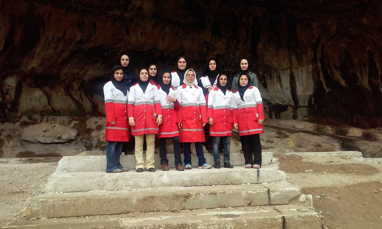 حضور امدادگران مسجدسلیمانی در کوهستانهای ایذه + تصویر