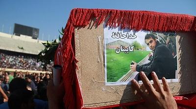 برگزاری گردهمایی جوانان ورزشدوست مسجدسلیمان در سوگ هادی نوروزی ،کاپیتان تیم فوتبال پرسپولیس + تصاویر