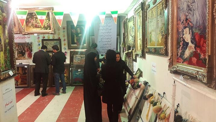 افتتاح نمایشگاه تابلو فرش در مسجدسلیمان +تصاویر