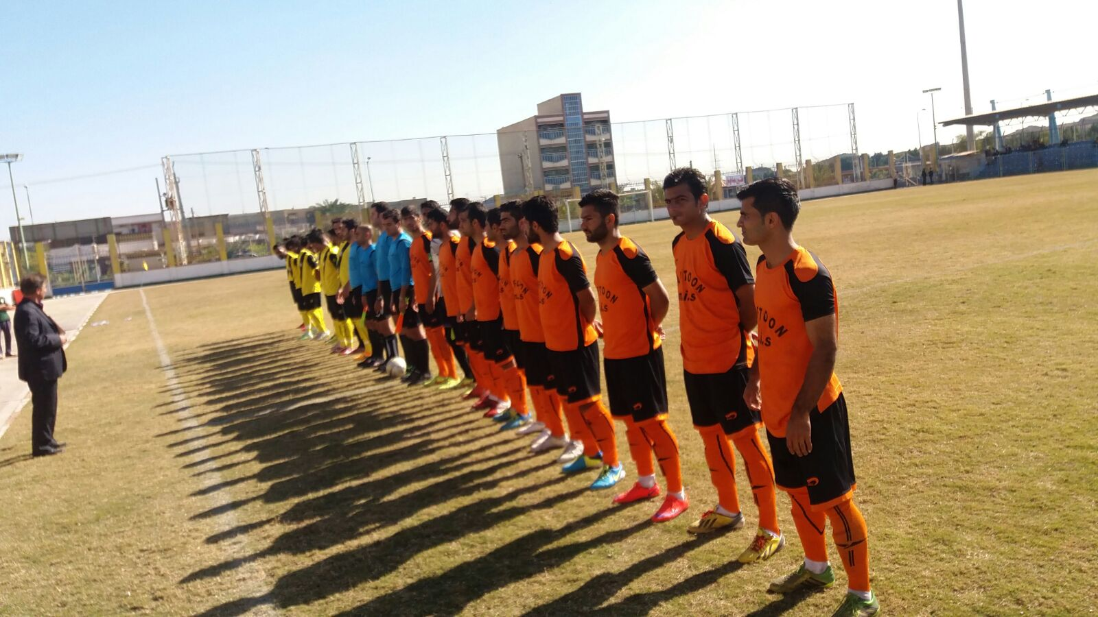 پیروزی پرگل نارنجی پوشان نفتون مقابل ملی حفاری در لیگ سه