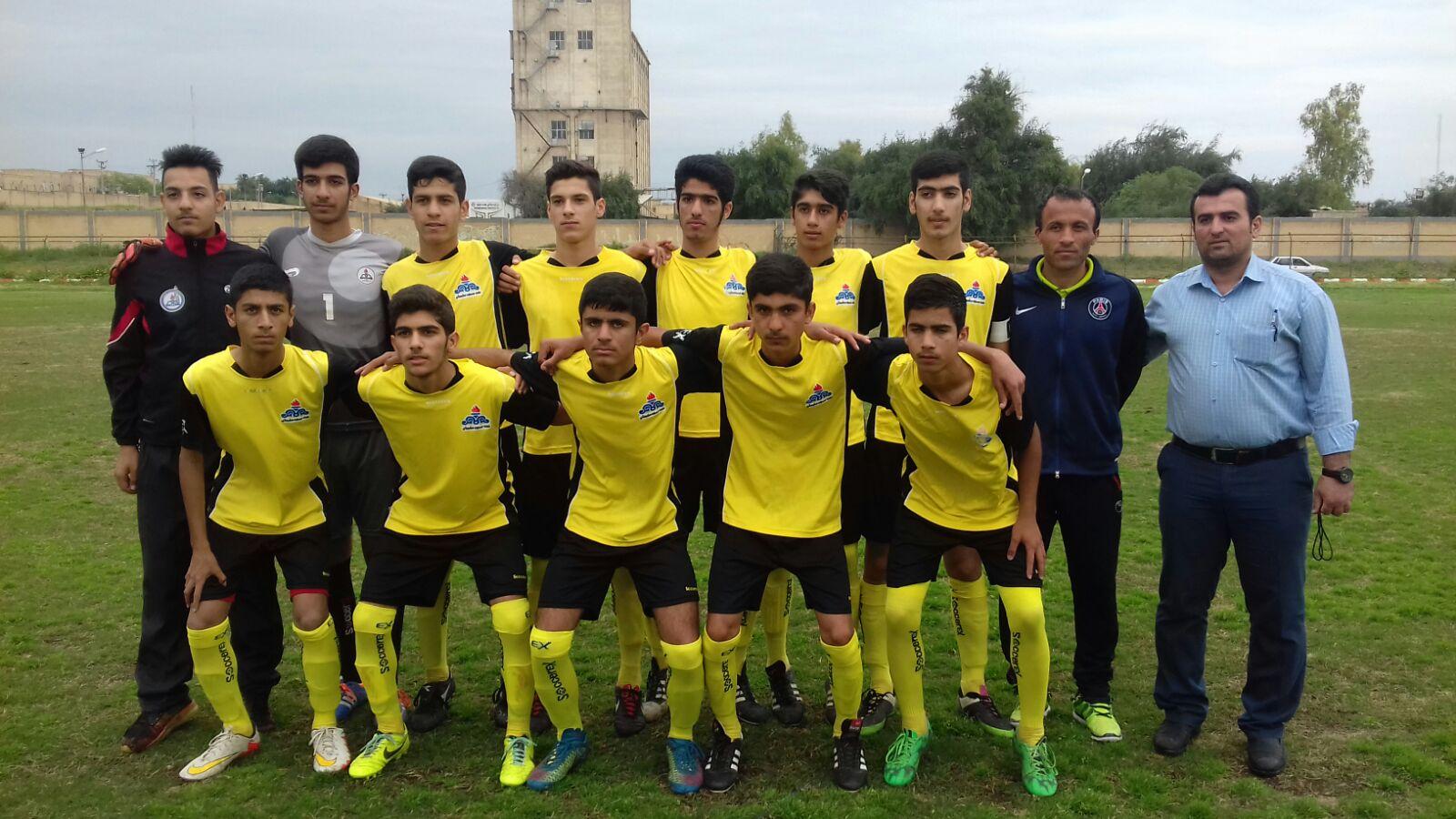 قهرمانی نوجوانان نفت مسجدسلیمان در لیگ برتر خوزستان + تصویر
