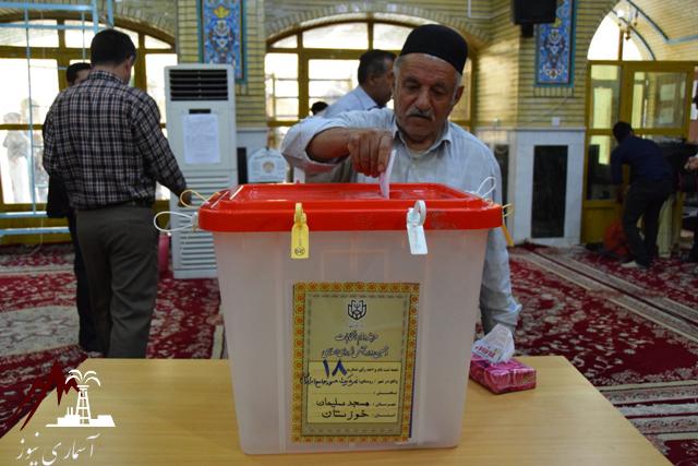 حضور پرشور مردم مسجدسلیمان در دور دوم انتخابات مجلس + تصاویر