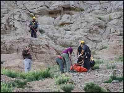 سقوط از کوهستان در بخش چلو شهرستان اندیکا یک کشته و دو زخمی برجای گذاشت