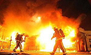 آتش سوزی منطقه جنگلی چال استران مهار شد + تصاویر