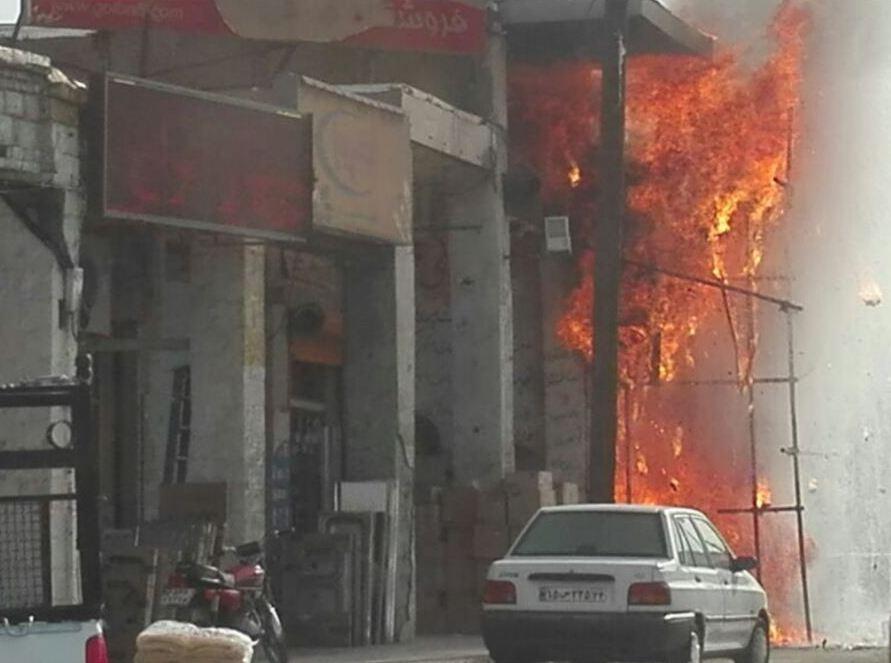 بمبی که آتش نشانان صنعت نفت  خنثی کردند
