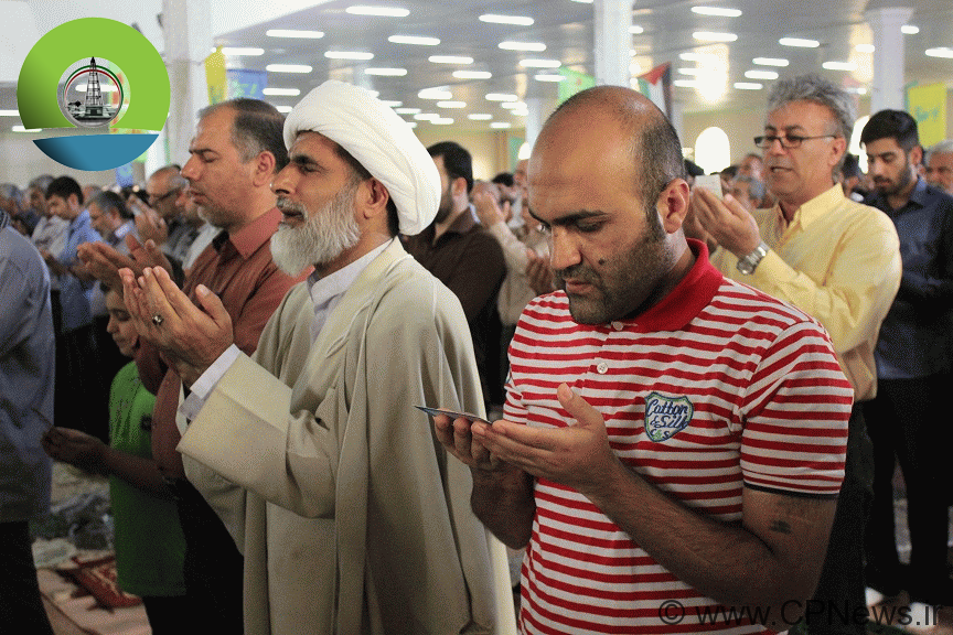 برگزاری با شکوه نماز عید سعید فطر در مصلی امام خمینی(ره) مسجدسلیمان +تصاویر