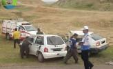 ۶ مجروح و ترافیک سنگین نوروزی در پی سانحه رانندگی امروز جاده مرگ + تصاویر