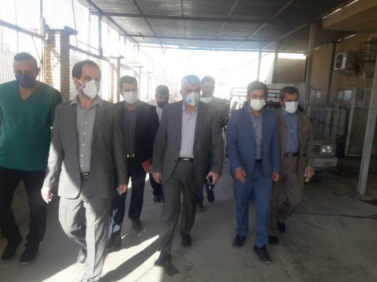 بازدید دکتر علیرضا ورناصری از بیمارستان امید در شهرستان لالی