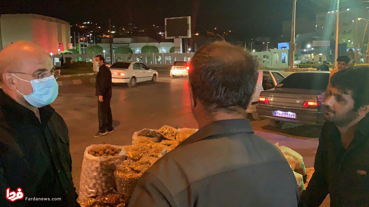 سهم مسجدسلیمان از بازدید شبانه قالیباف؛ وظیفه دارید مسجدسلیمان نو بسازید +تصاویر