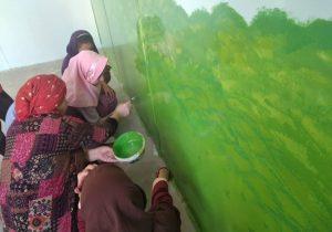 رنگ آمیزی و نقاشی مدارس بخش چلو اندیکا به همت خیرین + تصاویر