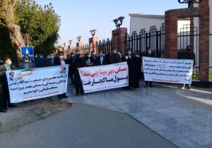 تجمع مالباختگان مسکن مهر مسجدسلیمان (پروژه مینا) مقابل استانداری خوزستان