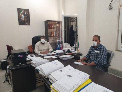 نشست مدیر انجمن حامیان طبیعت و محیط زیست حمیدیه با دادستان شهرستان