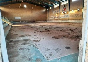 سرانجام سالن ورزشی جانبازان مسجدسلیمان به کجا رسید؟ +عکس