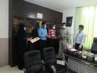 قدردانی از محیط بانان اداره حفاظت محیط زیست مسجدسلیمان به همت تشکل های مردم نهاد