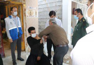 حضور سپاه اندیکا در مناطق صعب العبور شهرستان جهت تزریق واکسن کرونا