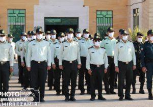 مراسم صبحگاه نیروی انتظامی شهرستان گتوند به مناسبت هفته نیروی انتظامی